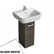 Ideal Standard Tempo Pedestal Unit and Basin 550mm Wide Gloss White