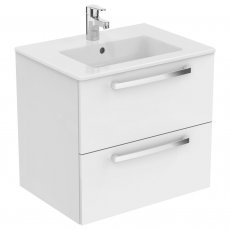 Ideal Standard Tempo 2-Drawer Vanity Unit 600mm Wide Gloss White