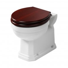 Ideal Standard Waverley Back to Wall Toilet 500mm Projection - Mahogany Seat