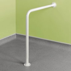 Impey Floor to Wall Hand Rail, White