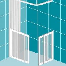 Impey Elevate Option 1 Corner Half Height Door 900mm x 900mm - Non Handed