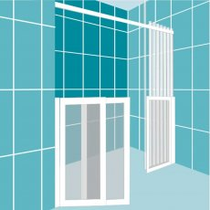 Impey Elevate Option 3 Alcove Half Height Door 1700mm Wide - Right Handed