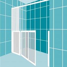 Impey Elevate Option 5 Alcove Half Height Door 1850mm Wide - Left Handed