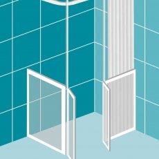 Impey Elevate Option D Corner Half Height Door 1700mm x 800mm - Right Handed