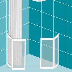 Impey Elevate Option H Corner Half Height Door 1500mm x 700mm - Left Handed