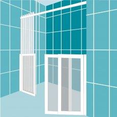Impey Freeglide Option 3 Alcove Half Height Door 1850mm Wide - Left Handed