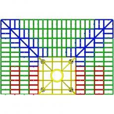 Impey Level-Grade Modular Wet Room Floor Former 1800mm x 1200mm (for Vinyl Floors)