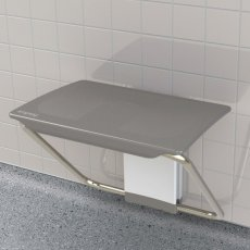 Impey Slimfold Bathroom Shower Bench - Grey