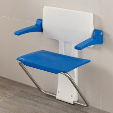 Impey Slimfold Shower Seat, Sky Blue