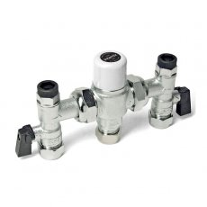 Intamix Thermostatic Mixing Valve 15mm with Service Valves and Test Point