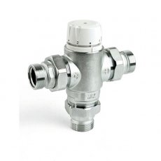 Intamix Pro Thermostatic Mixing Valve 1 1/4 with Screwed Iron and Check Valves
