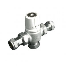 Intamix Low Pressure Thermostatic Mixing Valve with 22mm Compression