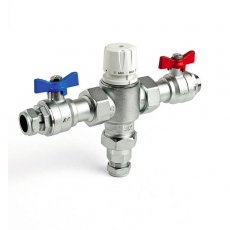 Intamix Pro V Thermostatic Mixing Valve 28mm with Isolating Unions