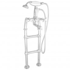 Jig Freestanding Small Mixer Taps 580mm H Pipe - Chrome