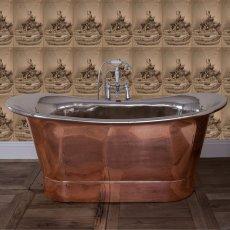 Hurlingham Normandy Copper Bath - 0 Tap Hole