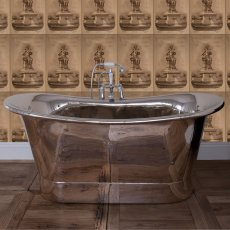 Hurlingham Normandy Copper Bath with Nickel Finish - 0 Tap Hole