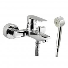 JTP Aria Bath Shower Mixer Tap with Kit Wall Mounted - Chrome