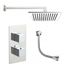 JTP Athena Dual Concealed Mixer Shower with Fixed Head + Bath Filler