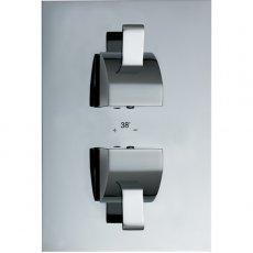 JTP Carlo Thermostatic Concealed Shower Valve Dual Handle - Chrome