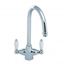 JTP Chelsea Mono Kitchen Sink Mixer Tap, Dual Handle, Chrome