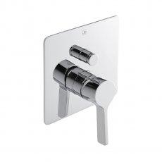 JTP Curve Concealed Shower Valve Single Handle with Diverter - Chrome