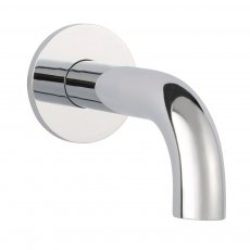 JTP Florence Basin Spout with Wall Flange 120mm - Chrome