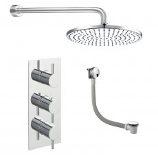 JTP Florence Triple Concealed Mixer Shower with Fixed Head + Bath Filler