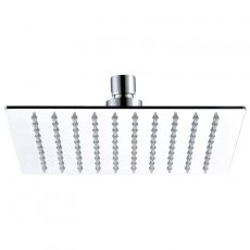 JTP Glide Ultra-Thin Square Ceiling Mounted Fixed Shower Head 200mm x 200mm - Chrome