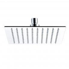 JTP Glide Ultra-Thin Square Ceiling Mounted Fixed Shower Head 400mm x 400mm - Chrome