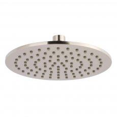 JTP Inox Slim Round Fixed Shower Head 200mm Diameter - Stainless Steel