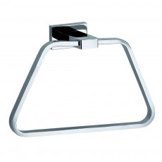 JTP Ludo Modern Towel Ring - Chrome