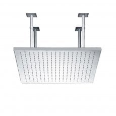 JTP Rainshower Square Fixed Shower Head, 400mm x 400mm, Chrome