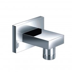 JTP Square Shower Outlet Elbow, Holder, Chrome