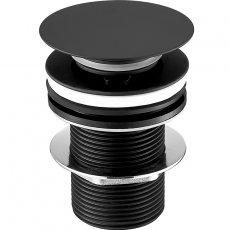 JTP Vos Basin Waste Matt Black - Unslotted (For Basins with No Overflow)