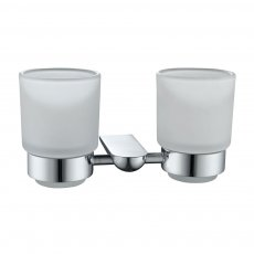 JTP Vue Double Tumbler Holder, Chrome