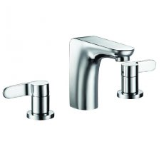 JTP Vue 3-Hole Basin Mixer Tap with Pop Up Waste Deck Mounted - Chrome