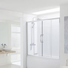 Signature Contract Over Bath Semi Frameless Double Sliding Door 1500mm H x 1700mm W - 6mm Glass