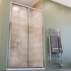 Lakes Classic Sliding Shower Door 1850mm H x 1200mm W - Silver