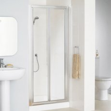 Lakes Classic Bi-Fold Shower Door 1850mm H x 700mm W - Silver