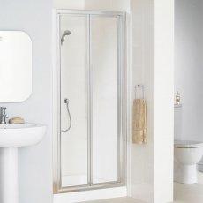Lakes Classic Bi-Fold Shower Door 1850mm H x 800mm W - Silver