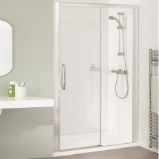 Lakes Classic Low Threshold Semi Frameless Sliding Shower Door 1850mm H x 1700mm W - Left Handed