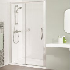 Lakes Classic Low Threshold Semi Frameless Sliding Shower Door 1850mm H x 1800mm W - Right Handed