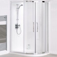 Lakes Classic Easy-fit Quadrant Double Sliding Shower Enclosure 800mm x 800mm - White Frame