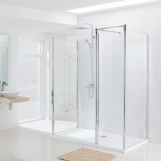 Lakes Classic Walk-In Shower Panel 1850mm H x 1400mm W - Silver
