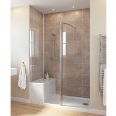 Lakes Classic Walk-in Shower Panel with Seated Shower Tray 1500mm x 850mm Wide - Left Handed