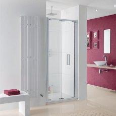 Lakes Coastline Bergen Bi-Fold Shower Door 2000mm H x 750mm W - 8mm Glass