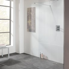 Lakes Coastline Cannes Walk-In Shower Panel 2000mm H x 1100mm W - 10mm Glass