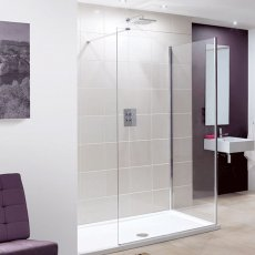Lakes Coastline Marseilles Walk-In Shower Screen 2000mm H x 950mm W - 8mm Glass