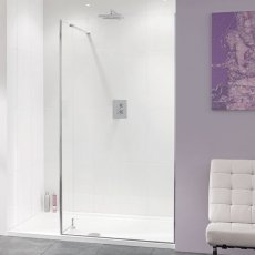 Lakes Coastline Nice Walk-In Shower Screen 2000mm H x 1200mm W - 10mm Glass