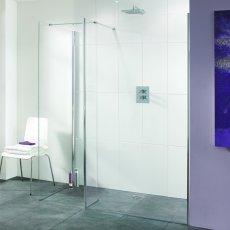 Lakes Coastline Nice Walk-In Shower Panel 2000mm H x 900mm W - 8mm Glass